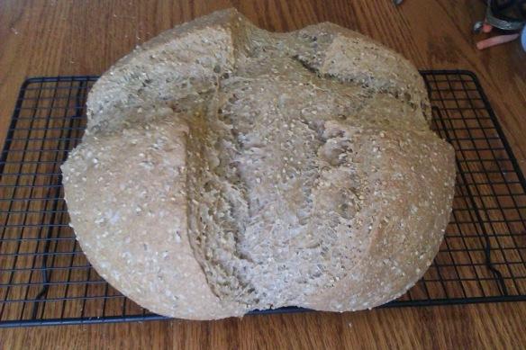 Pan con avena y sésamo